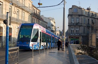Open tramway de Montpellier. Photo : Anje34 le 12/01/2012