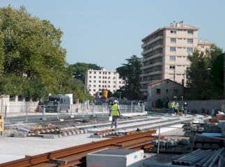 Emplacement de la future station Jules Guesde. Photo : Edouard Paris le 13/10/2010